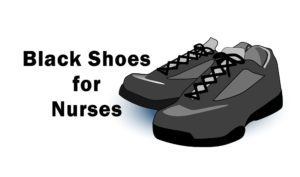 all black nursing shoes