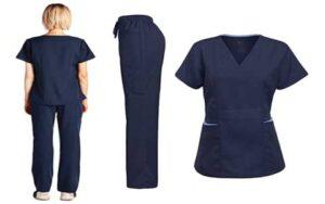 Dagacci Medical Uniform Stretch Ultra Soft Scrubs Set