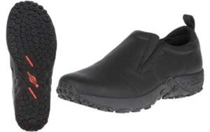 Merrell men's jungle Moc pro grip sole and upper overview